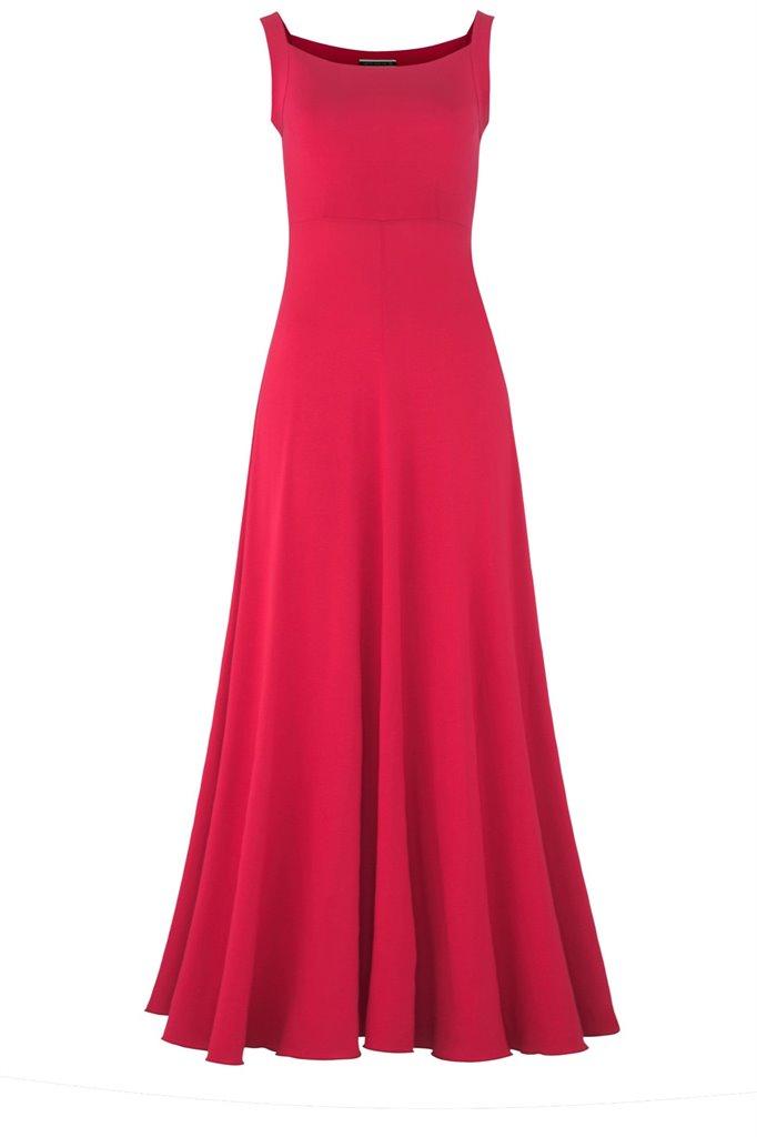 Fluid long dress - rød (kjole)