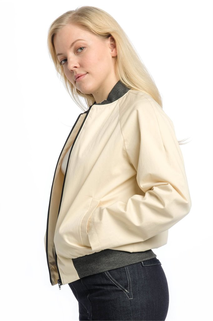The Bomber - creme (jakke)