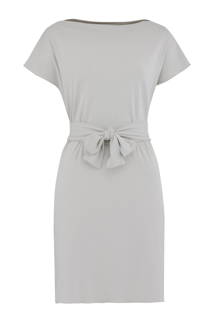 Jenna square dress - silver grey (kjole)