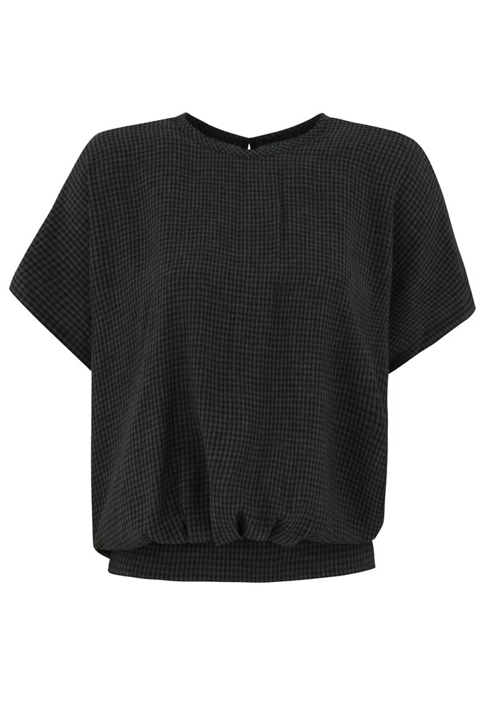 Strawberry thief blouse - grey pepita (topp)