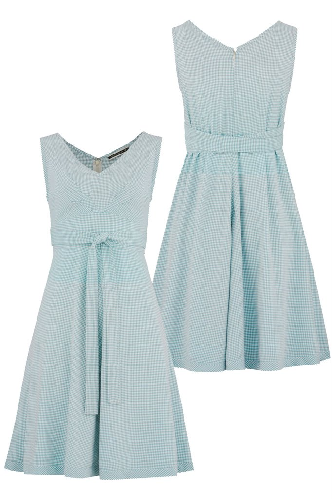 Strawberry thief dress - mint pepita (kjole)