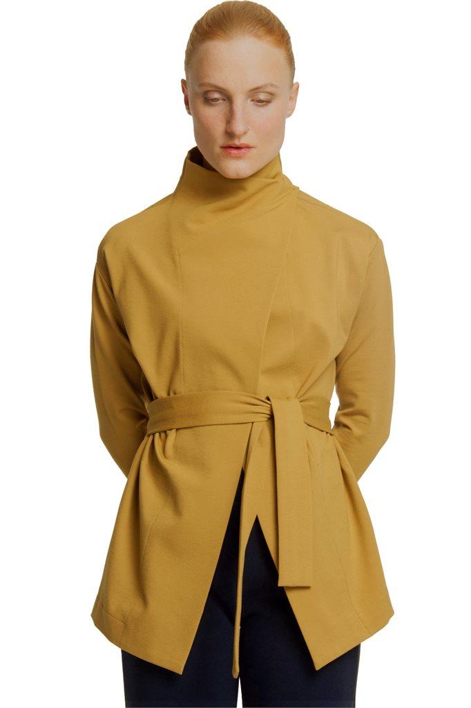 Kill Bill wrap jacket - mustard (jakke)
