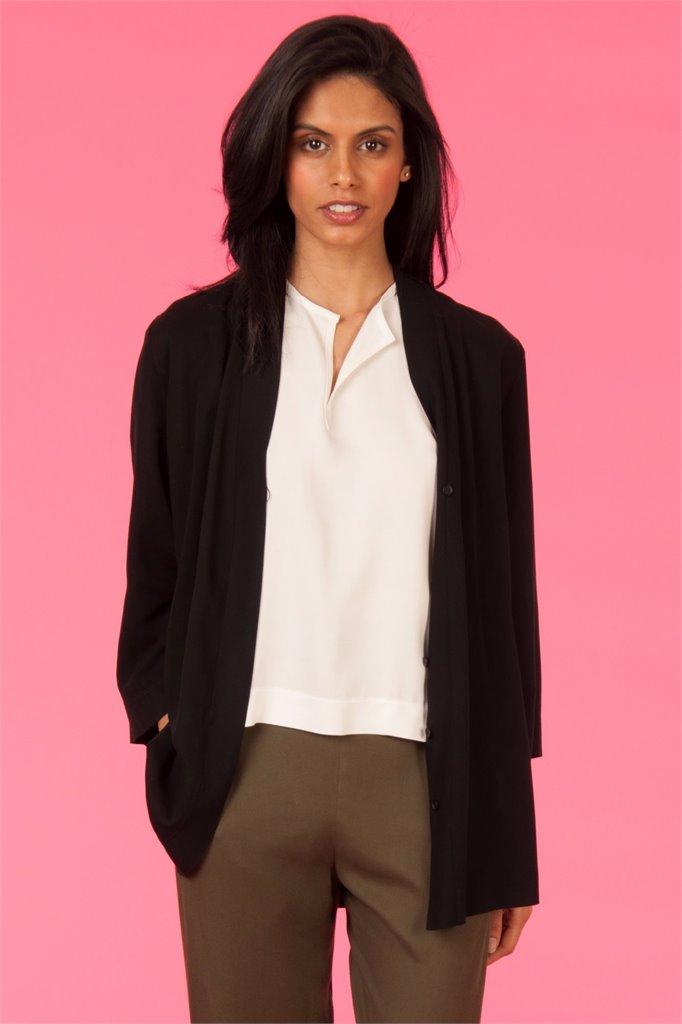 Oriental kimono solid - svart (jakke)