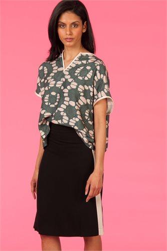 Oriental skirt solid - black (skirt)