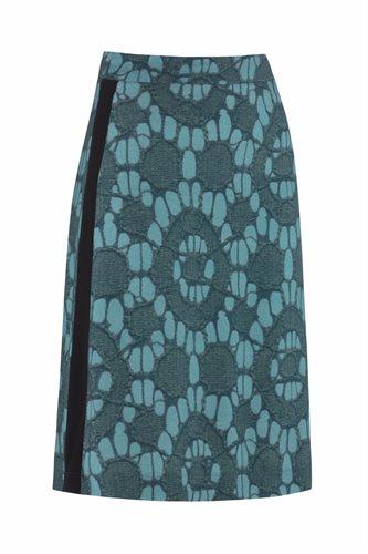 Oriental skirt print - sea print (skirt)