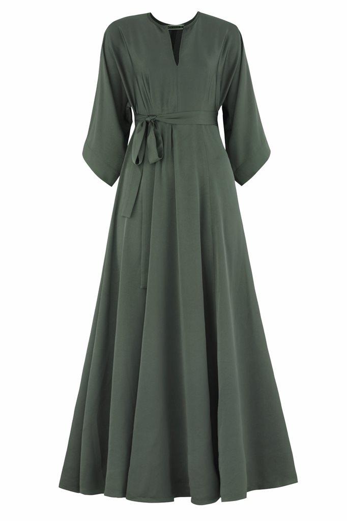Oriental army dress - army green (kjole)