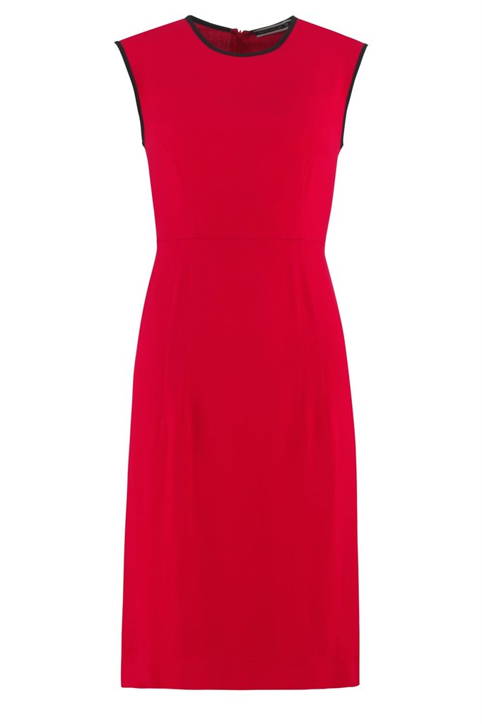 Oriental Sun dress solid - red (kjole)