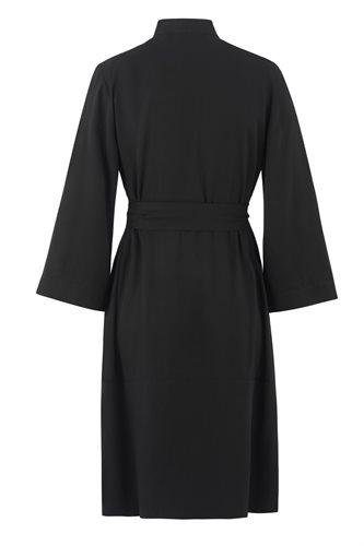 Oriental Kimono dress solid - black back (dress)
