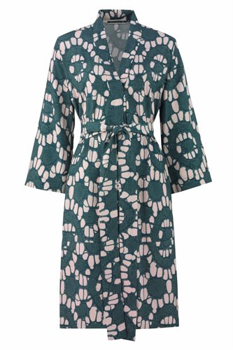 Oriental kimono dress print - beige print (dress)