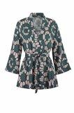 Oriental kimono print - beige print (jakke)