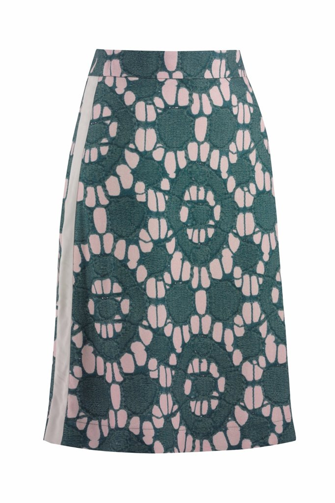 Oriental skirt print - beige print (skjørt)