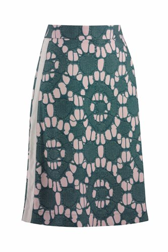 Oriental skirt print - beige print (skirt)