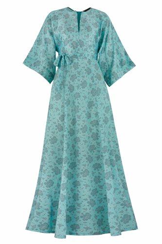 Oriental flower dress - gray (dress)
