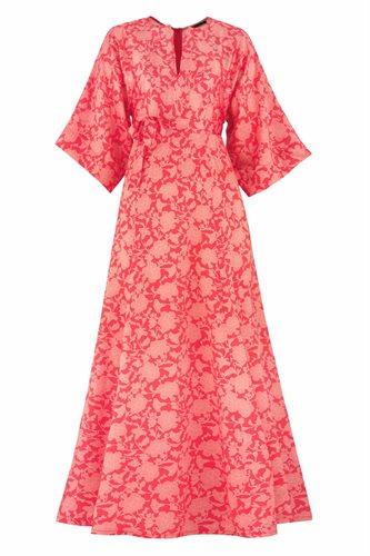 Oriental flower dress - red (dress)