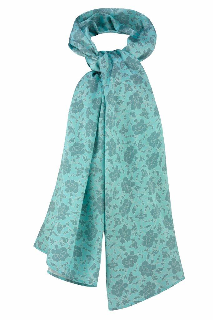Oriental shawl silk - grå (tilbehør)