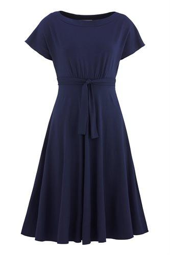 Fluid summer dress 2 - navy (dress)