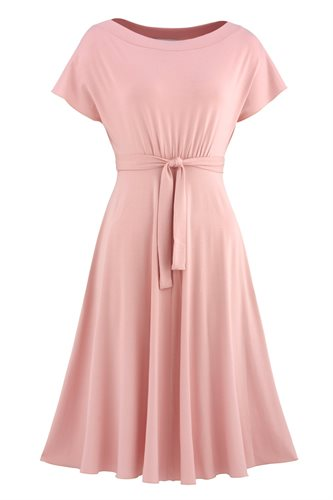 Fluid summer dress 2 - salmon (dress)
