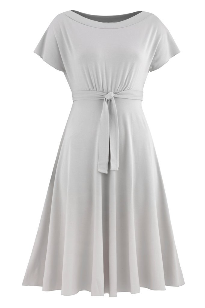 Fluid summer dress 2 - silver (kjole)