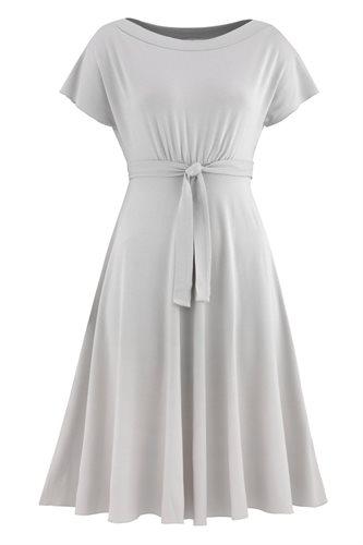 Fluid summer dress 2 - silver (dress)