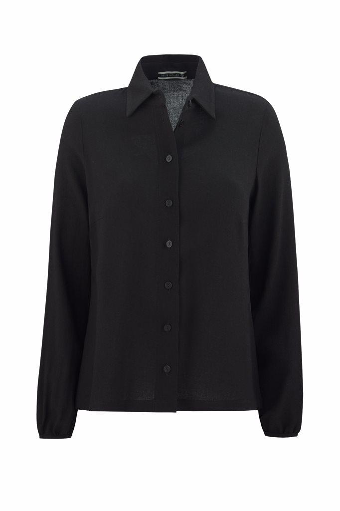 Musselin shirt - svart (skjorte)