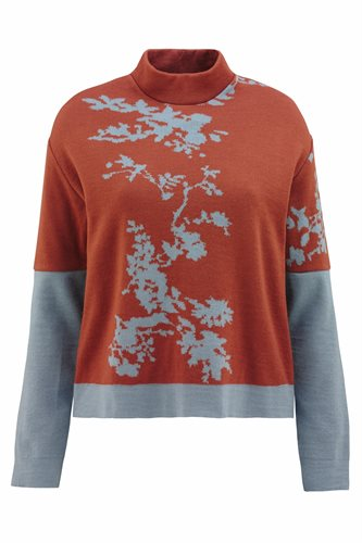 Asian bloom sweater - gray moss (sweater)