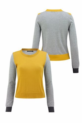 Just for fun sweater - yellow front and back (sweater)