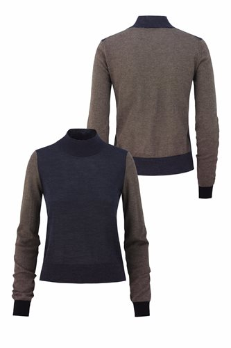 Just for fun sweater - mel navy front and back (sweater)