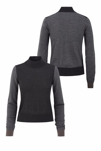 Just for fun sweater - gray front and back (sweater)