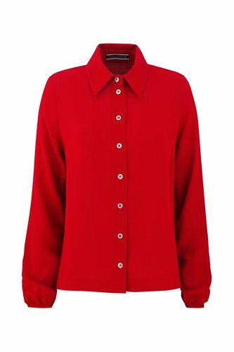 Musselin shirt - red (shirt)