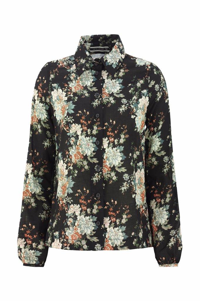 Musselin shirt - flower - flower (skjorte)