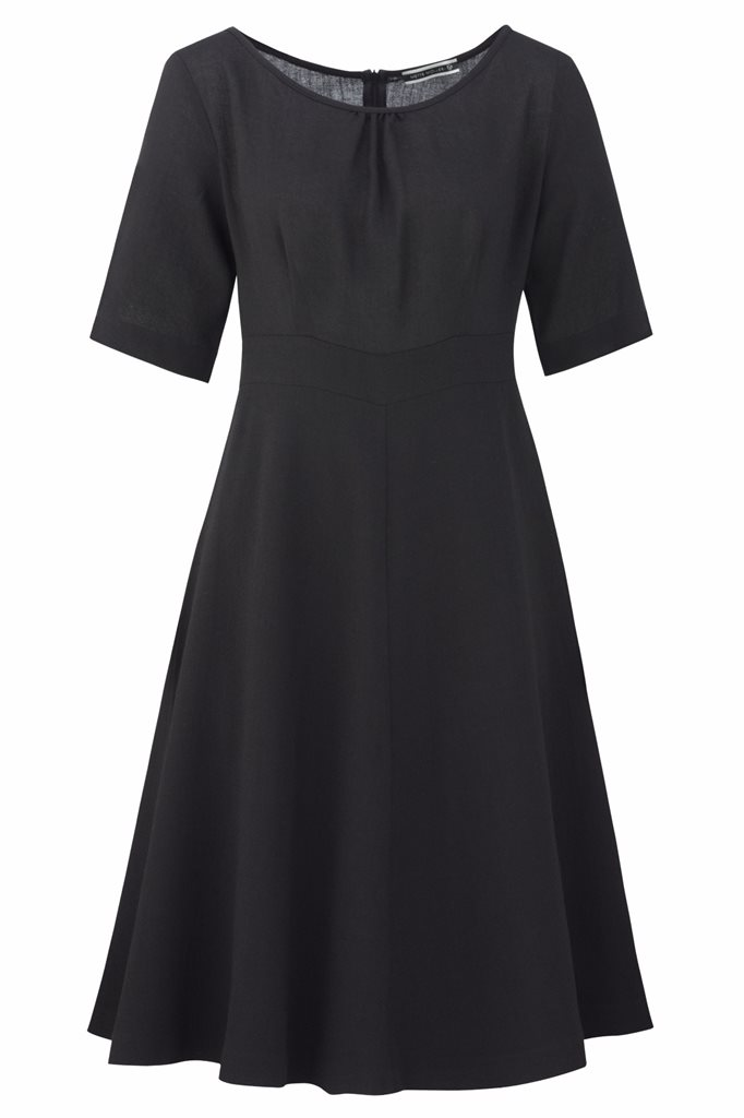 Musselin dress - svart (kjole)