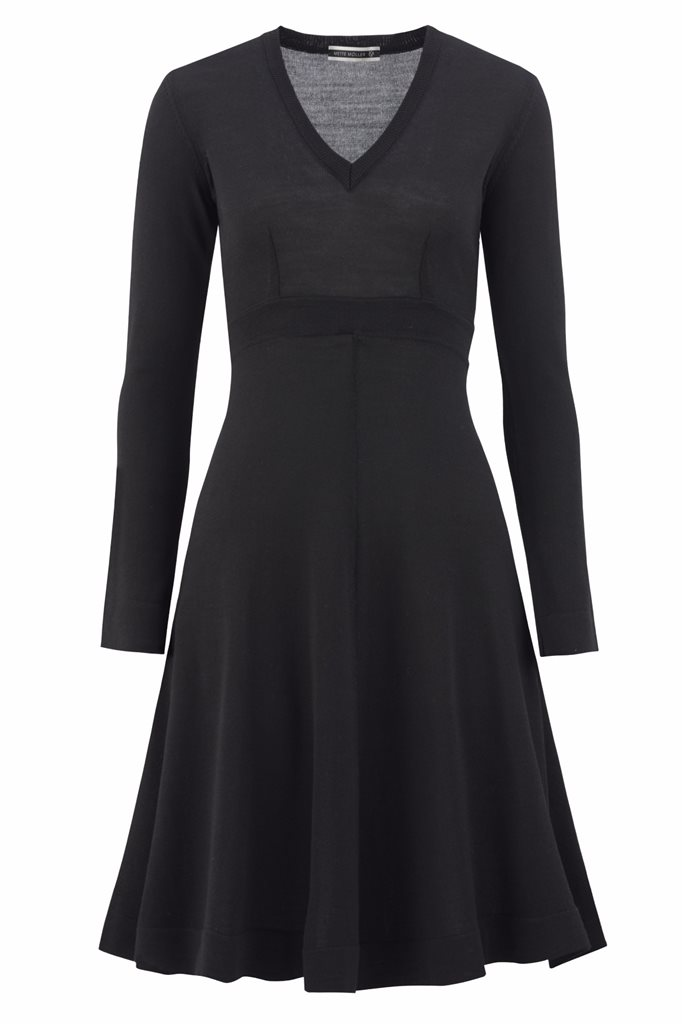 Classic V-dress - svart - black (dress)