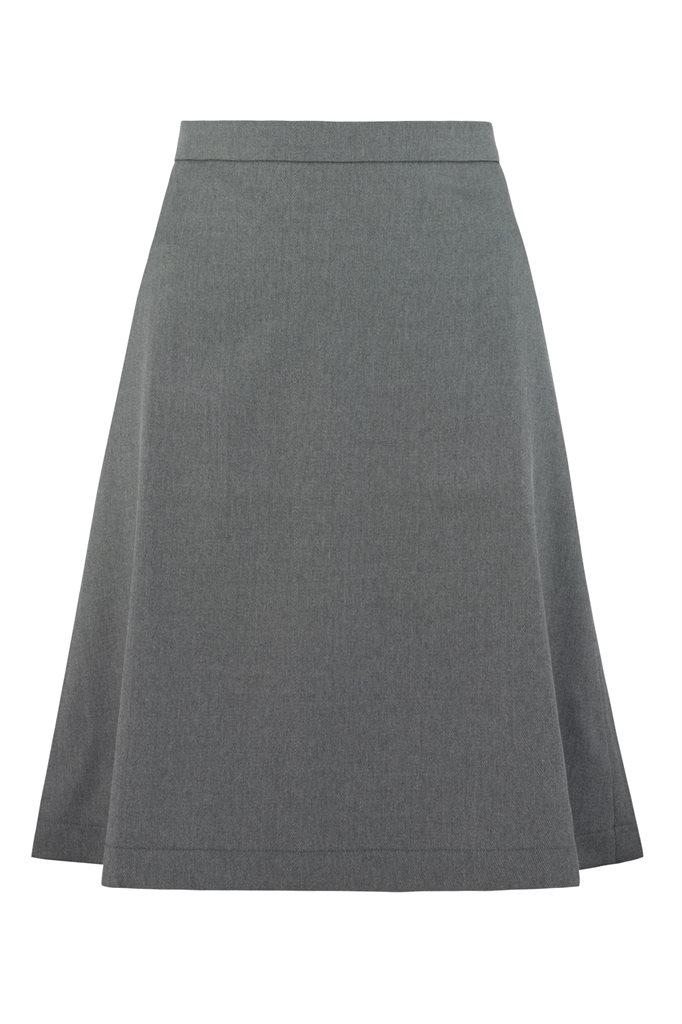 Musselin skirt - grå - grå (skjørt)