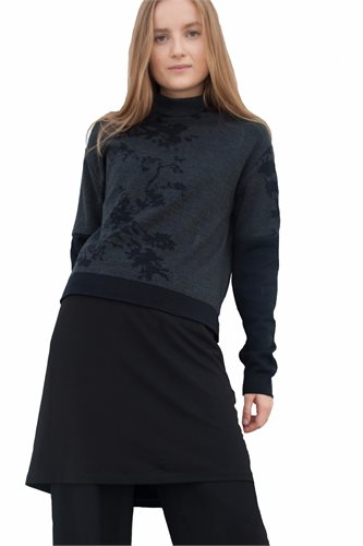 Asian bloom sweater - black/dark gray (sweater)