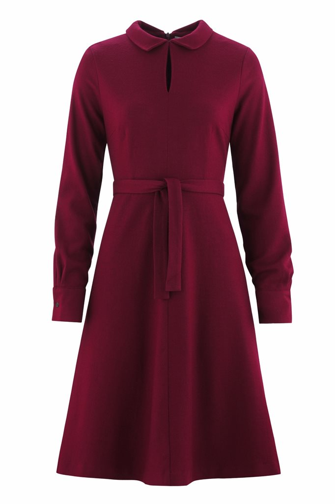 Musselin Day dress - burgunder - burgunder (kjole)