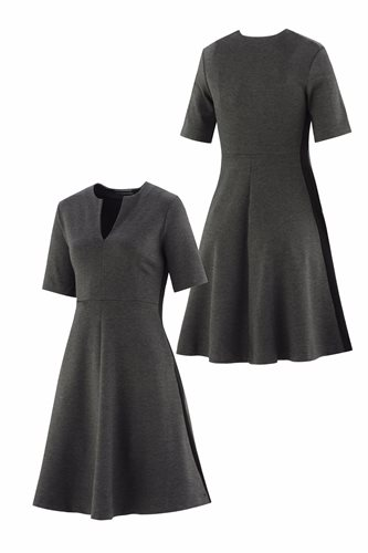 The X-dress - gray front and back (dress)