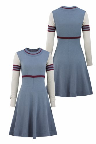 Classic S dress - front and back (dress)