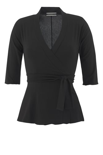 Classic Jersey wrap top - black - black (top)