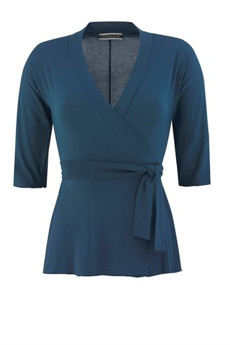 Classic Jersey wrap top - majolica blue (top)