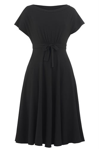 Classic Jersey summer dress - black - black (dress)