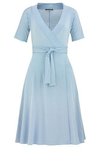 Classic Jersey wrap dress - ice blue (dress)