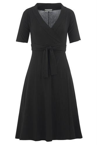 Classic Jersey wrap dress - black - black (dress)