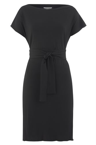 Classic jersey square dress - black - black (dress)