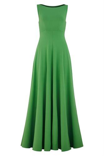 Classic long jersey dress - green (dress)
