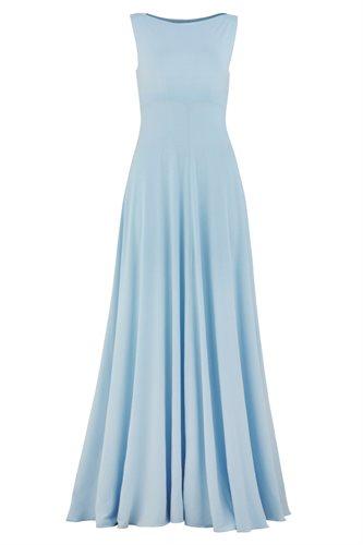 Classic long jersey dress - ice blue (dress)