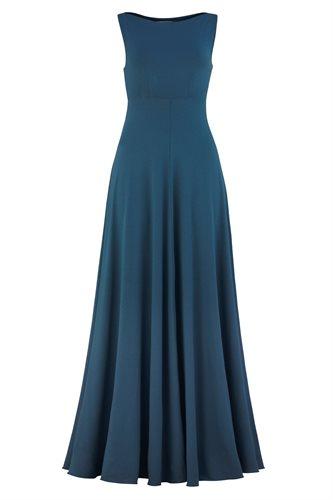 Classic long jersey dress - majolica blue (dress)