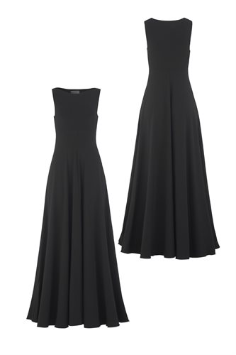 Classic long jersey dress - black - black (dress)