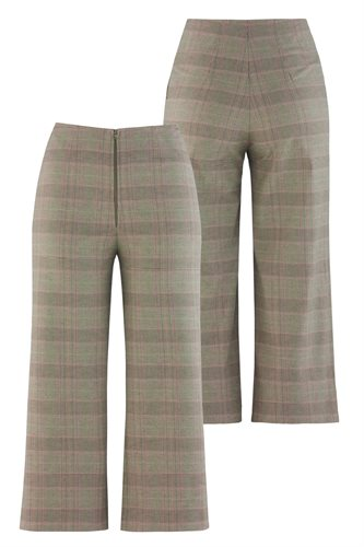 The Cool Shorty - brown check (pants/shorts)