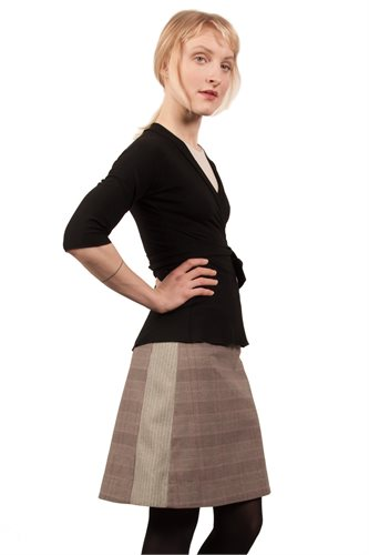 The Cool skirt - brown check (skirt)