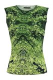 Print jersey singlet - manhattan green (top)